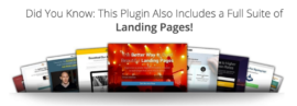 Thrive content builder includes landing pages